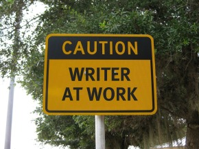 Caution: Writer at Work