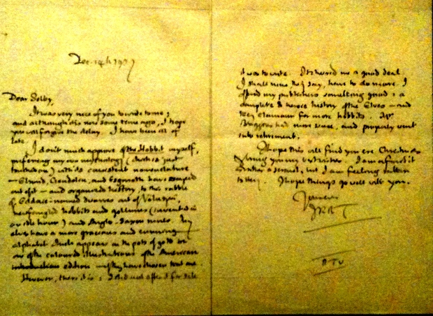 Tolkien's letter to G.E. Selby